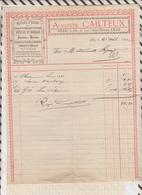 8/96 Lettre Facture CAILTEUX LILLE PAPETERIE MERCERIE CHAPELETS / 1892 - France