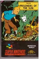 Cartouche Jeu Super Nintendo Tintin Le Temple Du Soleil - Electronic Games