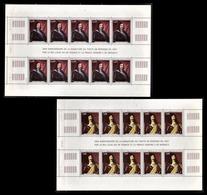 MONACO 1991 - SERIE  2 FEUILLES DE 10 TP / N° 1787 A 1788 - NEUFS** - Blocks & Sheetlets