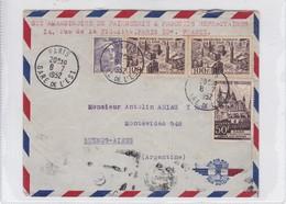 AIRMAIL CIRCULEE FRANCE TO ARGENTINE. OBLITERE GARE DE L'EST 1952. BANDELETA PARLANTE. - BLEUP - Aéreo