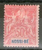 N° 37*_cote 28.00_petite Fente Voir Scan - Nossi-Bé (1889-1901)