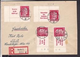 Einschreibbrief Deutsches Reich Zusammendruck  1942 - Germany