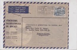 AIRMAIL CIRCULEE SUISSE TO ARGENTINE OBLITERE GENEVE 1930.- BLEUP - Autres Documents