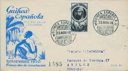 1950 , GUINEA ESPAÑOLA , SOBRE DE PRIMER DIA , ED. 294 , DIA DEL SELLO COLONIAL - Guinea Española