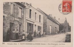 23 - ST GEORGES LA POUGE - RUE PRINCIPALE ET LA POSTE - France