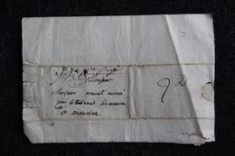 Manuscrit Daté Du 17 Octobre 1808 , Expédié D'AURILLAC Vers MAURIAC - Manuscritos