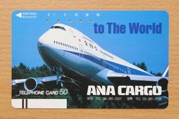 Japon Japan Free Front Bar, Balken Phonecard (A) / 110-15002 / ANA Cargo / - Avions