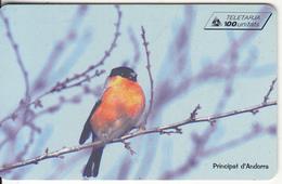 ANDORRA(chip) - Bird, Tirage 20000, 03/99, Used - Andorra