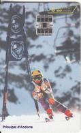ANDORRA(chip) - Ski, Tirage 15000, 01/97, Used - Andorra