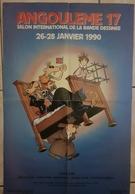 Rare Affiche Petillon 17 ème Festival De La Bd D Angoulême 1990 - Affiches & Offsets