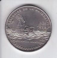 MONEDA DE CUBA DE 1 PESO DEL AÑO 2000  DE LA AMBULANCIA MARITIMA BUENAVENTURA (COIN) - Kuba