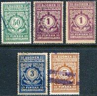 Finland 1919-1923 State Railways (VR) Railway Parcel Freight Stamps Selection Eisenbahn Paketmarke Chemin De Fer Colis - Trains