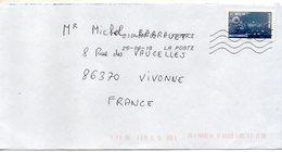 2018--tp Adhésif De Carnet -- Bulles D'air Dans La Glace.....   Seul  Sur Lettre - Marcophilie (Lettres)
