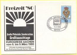 GERMANIA - GERMANY - Deutschland - ALLEMAGNE - BUNDESPOST - 1980 - 10 Tag Der Briefmarke -Briefmarkenfreunde Aachen 1890 - [7] Repubblica Federale
