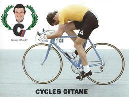 BERNARD HINAULT CYCLES GITANE + PALMARES AU DOS CPM    TTBE Etat - Cyclisme