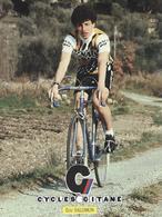 ERIC SALOMON  CYCLES GITANE + PALMARES AU DOS CPM    TTBE Etat - Cyclisme