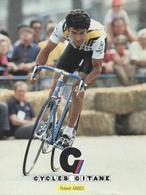 HUBERT ARBES CYCLES GITANE + PALMARES AU DOS CPM    TTBE Etat - Cyclisme