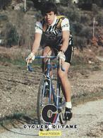 PASCAL POISSON CYCLES GITANE + PALMARES AU DOS CPM    TTBE Etat - Cyclisme