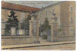 34 - SAINT PONS - Mairie Et Tribunal - Ed. Paul Peyrefitte Colorisée - Saint-Pons-de-Mauchiens