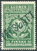 Finland 1918 KYRKSLÄTT Station State Railways (VR) 50 Pen # 43 A Railway Parcel Eisenbahn Paketmarke Chemin De Fer Colis - Trains