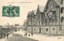 """/ CPA FRANCE 76 """" Dieppe, La Rue Alexandre Dumas"""" - Dieppe"""