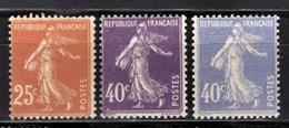 FRANCE 1926 / 1927 -  Y.T. N° 235 / 236 / 237 - NEUFS*.. - France