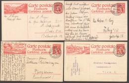 Lot 8 Cartes Postales Différentes  Nos Michel P106 I, 109A, 111 X3, 107, 117, 132 I - Stamped Stationery