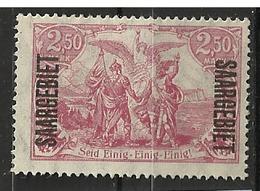 SARRE           N° YVERT  :    48 ( Point Rouille)       NEUF SANS GOMME        ( SG     018 ) - Ungebraucht