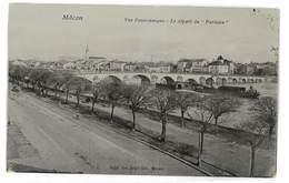 CPA 71 MACON LE DEPART DU PARISIEN - Macon