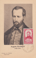 Carte  Maximum  Auguste  BLANQUI    PUGET - THENIERS   1948 - Maximumkaarten