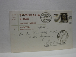 PADOVA  -- TIPOGRAFIA  ROMA  -- FRATELLI PARONI - Padova (Padua)