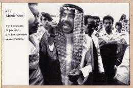 Esp233 VALLADOLID Cpasport MUNDIAL 21 Juin 1982 Cheik Koweitien FAHID-AL-AHMAD Menace Arbitre Série E MONDE VECU SEPPMG - Valladolid