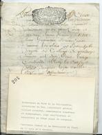 CACHET GENERALITE DE TOURS   Sur Parchemin 8 PAGES - 1714 - Cachets Généralité