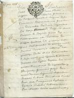 CACHET GENERALITE DE TOURS   Sur Parchemin 6 PAGES - 1738 - Cachets Généralité