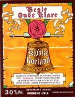 Etiket Etiquette - Genever Genièvre - Best Oude Klare Klokke Roeland - Rubbens Zele - Labels