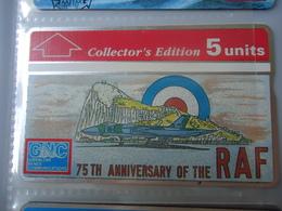 GIBRALTAR USED CARDS RAF AIRPLANES - Gibraltar
