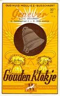 Etiket Etiquette - Genever Genièvre - Gouden Klokje - De Hazewind - Decubber Kortrijk - Labels