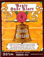 Etiket Etiquette - Genever Genièvre - Best Oude Klare Klokke Roeland - Rubbens Zele - Etiquettes