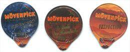 812 - Movenpick  - Serie Complete De 3 Opercules Suisse - Milk Tops (Milk Lids)