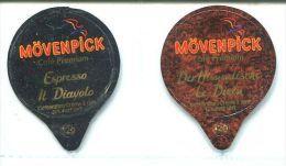 825 - Movenpick - Serie Complete De 2 Opercules Suisse - Milk Tops (Milk Lids)