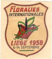 Sticker Zelfklever - Toerisme Tourisme Floralies Liège 1958 - Autocollants