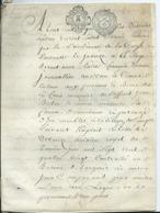 CACHET GENERALITE DE TOURS   Sur Parchemin 8 PAGES - 1782 - Cachets Généralité