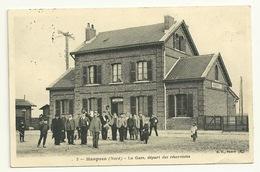 59 - HASPRES / LA GARE - DEPART DES RESERVISTES - Otros Municipios