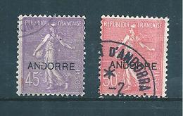 Timbres D'andorre De 1931  N°14 Et 15  Oblitérés Cote 33€ - Oblitérés