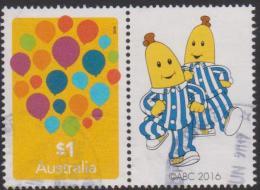 AUSTRALIA - USED 2016 $1.00 Love To Celebrate Balloons With Bananas In Pyjamas Tab - 2010-... Elizabeth II