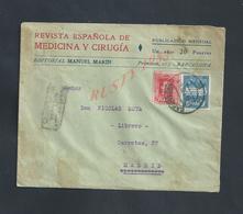 LETTRE COMMERCIALE SUR TIMBRES D ESPAGNE REVISTA ESPANOLA DE MEDICINA Y CIRUGIA BARCELONA : - 1931-Heute: 2. Rep. - ... Juan Carlos I
