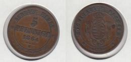 Allemagne Saxe  Sachsen 5 Pfennige  1864 B - [ 1] …-1871 : German States