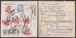 Paketzettel Reichenbach Mit PSSt. Neumark Nach Der BRD, Frankiert Turn- U. Sportfest Spartiakade Weitsprung - Lettres