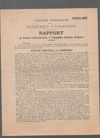 (Indochine)  VERRERIES D'INDOCHINE Rapport Du Conseil D'administration 1932 (PPP8984) - Publicités