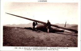 Avion - Vol à Voile De La Banne D'Ordanche - Placement AVIA 41 P - A L'horizon, Le Puy De Dôme Et La Chaine Des Puys - 1919-1938: Entre Guerres